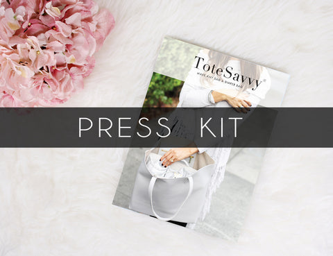 press kit totesavvy