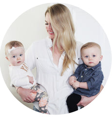 Lauren Kutting, Founder and CEO of Life In Play, and her twins