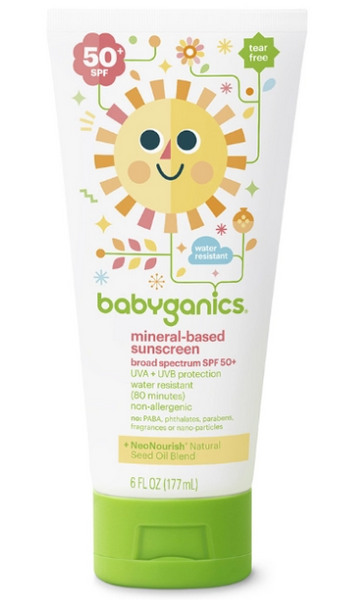 babyganics, mineral suncreen, sunscreen for kids