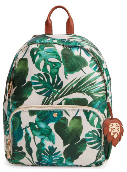 tommy bahama backpack, palm print backpack, summer backpack, diaper bag backpack