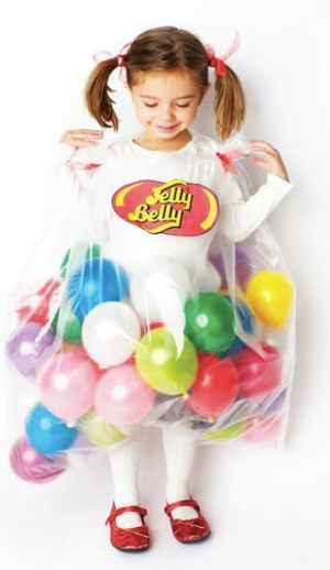 DIY halloween costumes, halloween costumes you can make yourself, halloween costumes for kids, jellybean costume, jelly belly