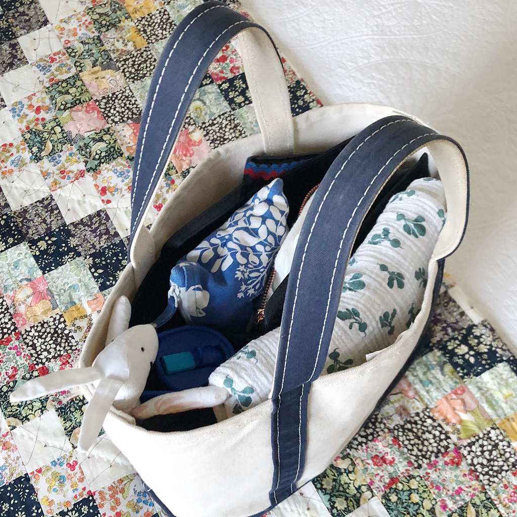 Packed ToteSavvy in Canvas Tote