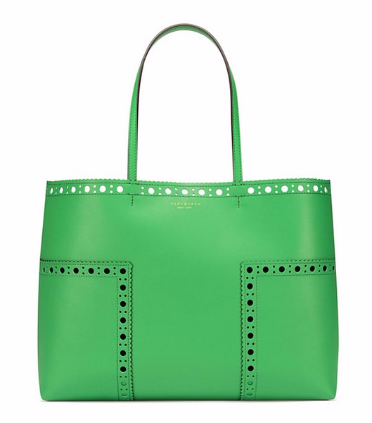 This tote is so adorable with its adorable perforated trim. Although I was  immediately drawn to the bright green color 64854fb5c30ea