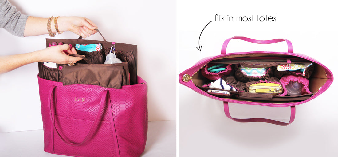 Insert this organizer in your tote for a modern diaper bag