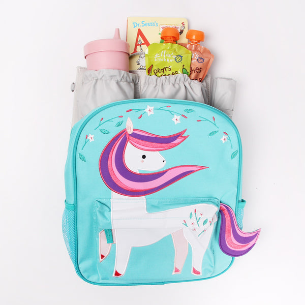 land of nod backpack, toddler backpack, unicorn backpack, totesavvy mini