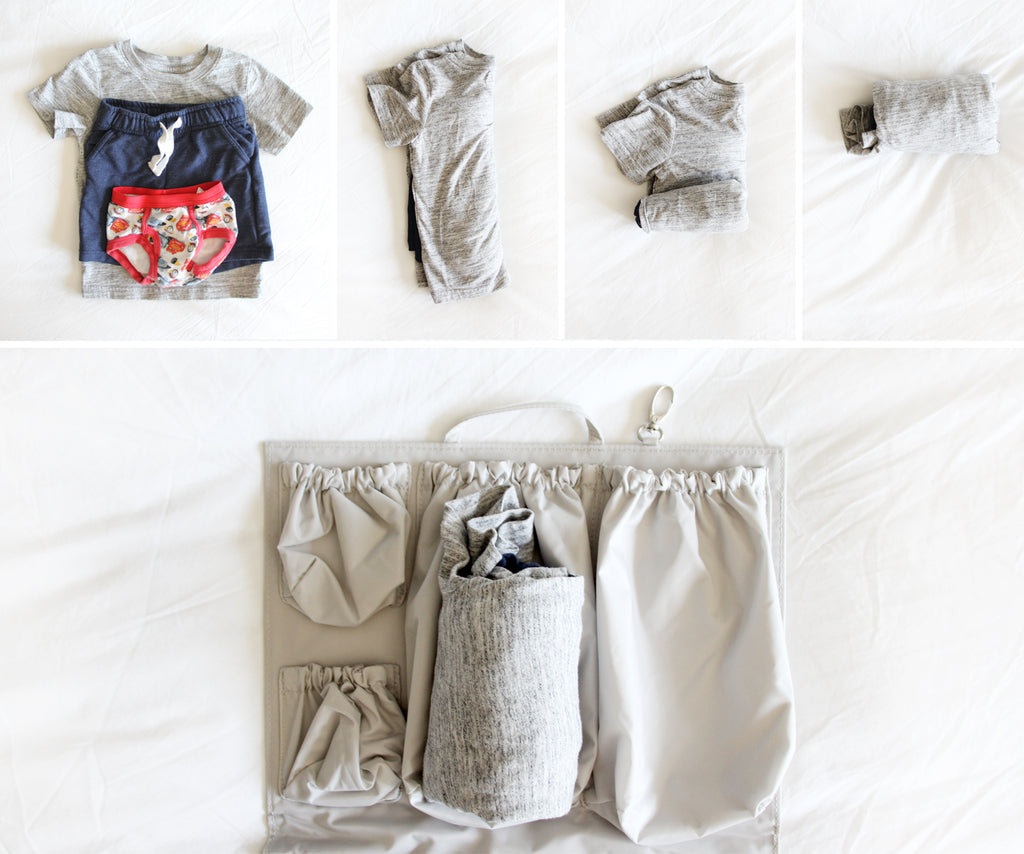 how to pack clothing in your diaper bag
