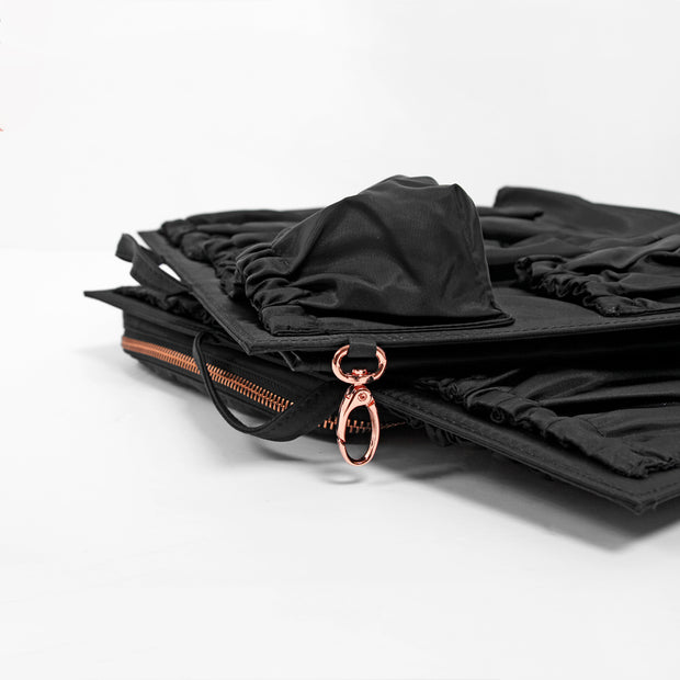 ToteSavvy Deluxe work bag organizer with rose gold hardware