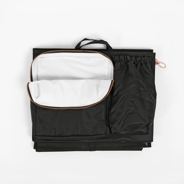 ToteSavvy Deluxe work bag organizer includes cooler pocket