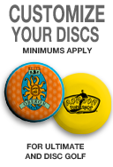 Order Discraft golf or ultimate discs with your custom design