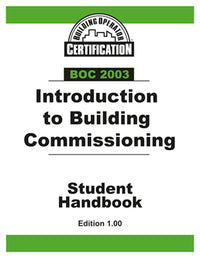 BOC 2003 Student Handbook: Introduction to Building Commissioning