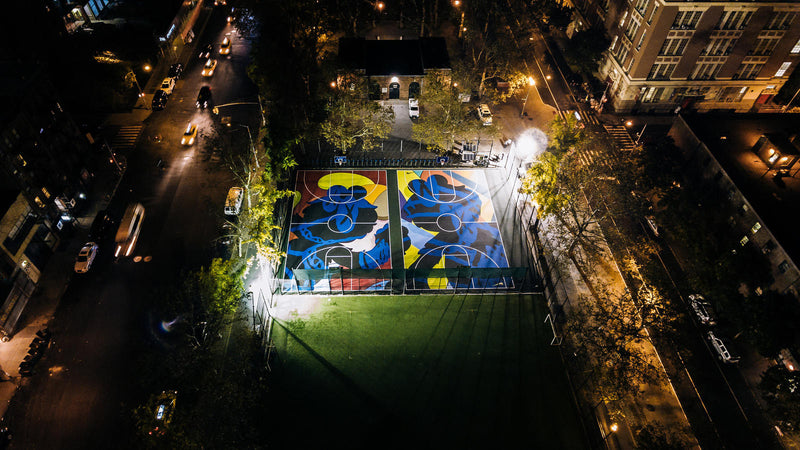 KAWS Does Nike's Stanton Street Basketball Court