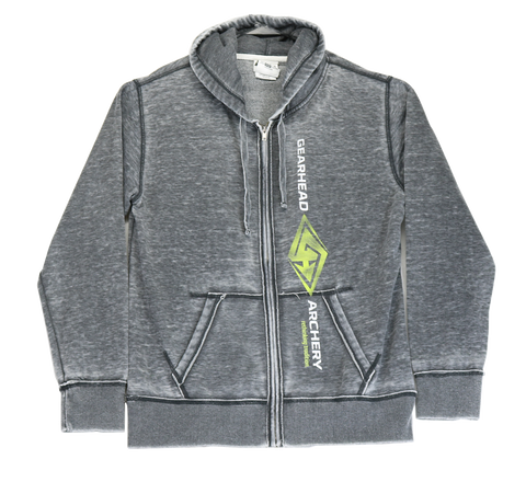 SMOKEY BURNOUT Gearhead Full Zip Hoodie
