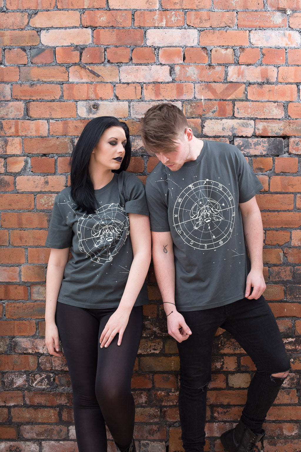 Grey Unisex Constellation Tee