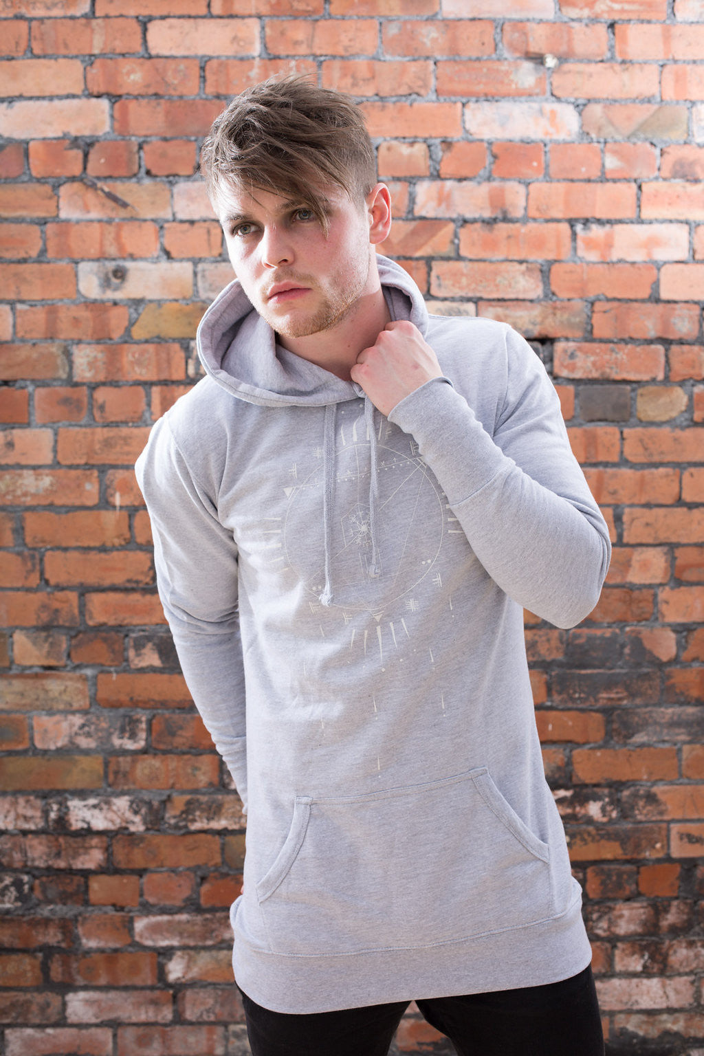 Grey Unisex Viking Dreamcatcher Hoodie