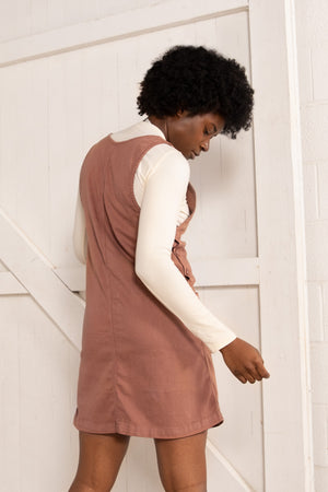 Caroline Jumper Dress - Terracotta