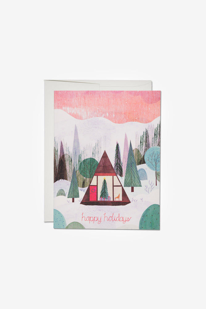 Modern Cabin Holiday Card
