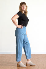 Side Zip Pant - Denim