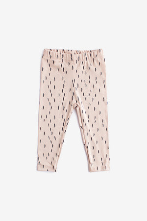 Rain Organic Leggings - Dusty Rose with Charcoal