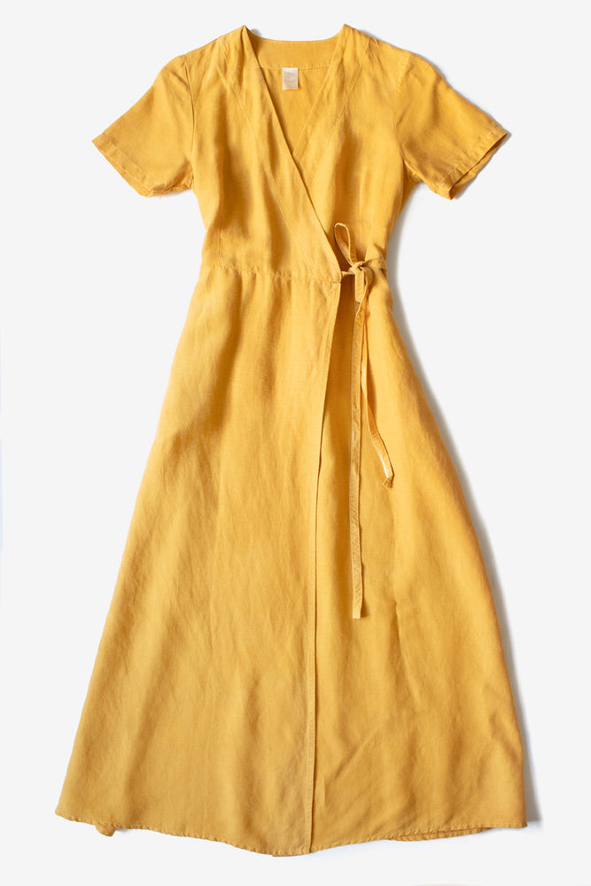 Avery Wrap Dress  - Golden