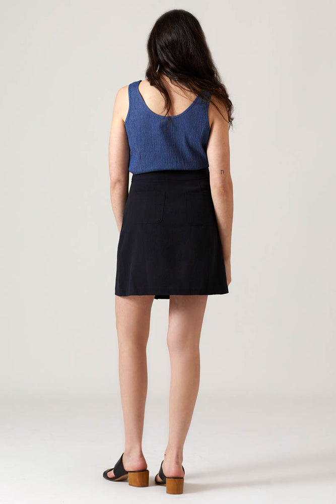Button Skirt - Black