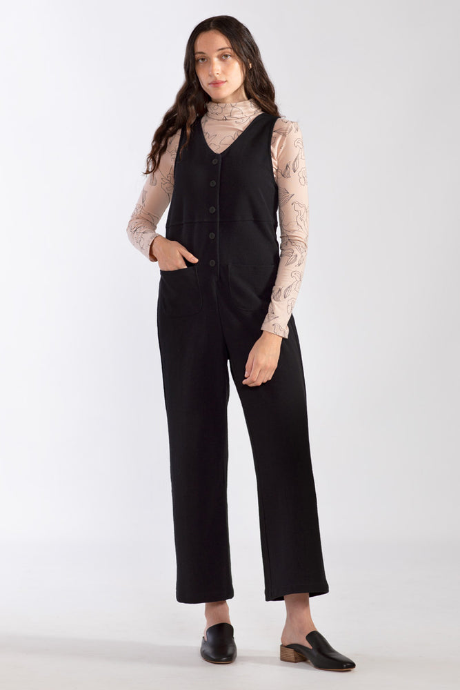 Canvas Jumpsuit - Black