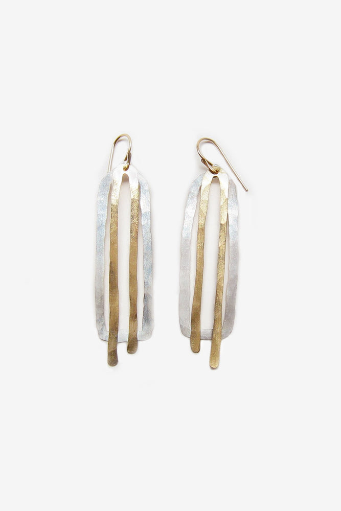 peggy earring - silver with 14k yellow gold fill