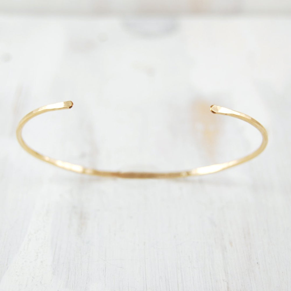 Thin Simple Forged Cuff - Sterling Silver