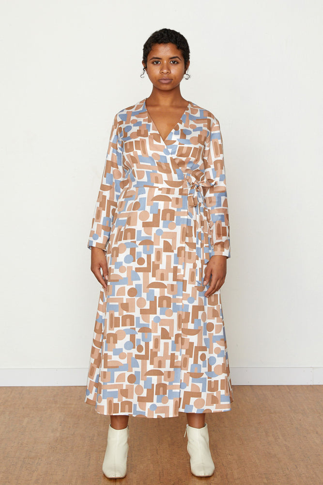 Decades Louisa Wrap Dress - Natural