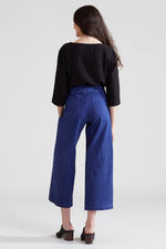 Denim Wide Leg Pants - Midnight