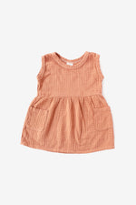 Double Cloth Tank Dress - Almond