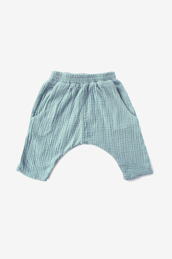 Double Cloth Harem Pants - Aqua