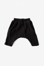 Double Cloth Harem Pants - Black