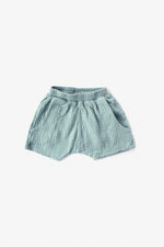 Double Cloth Shorts - Aqua