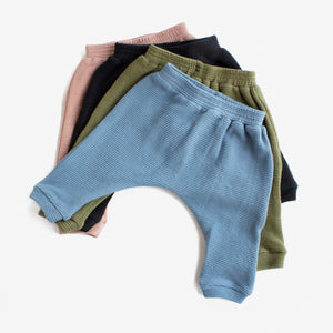 Thermal Harem Pants - Slate
