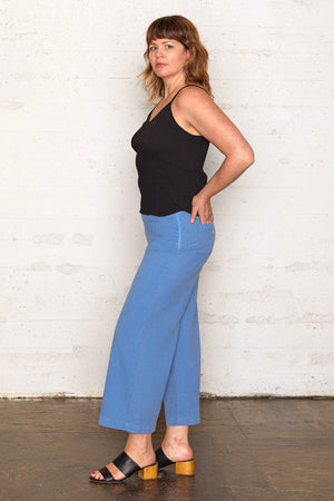 Tencel Wide Leg Pants - Riviera