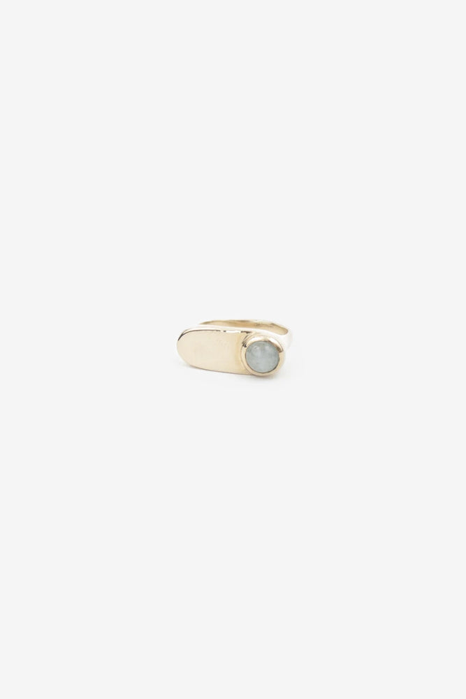 Esposita Ring - Brass with Aquamarine