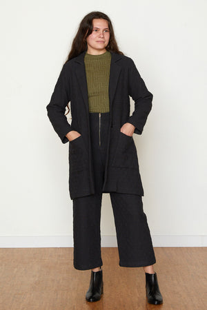 Quilted Frankie Coat - Black
