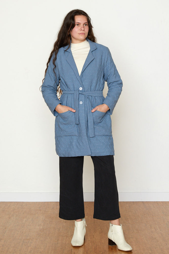 Quilted Frankie Coat - Slate