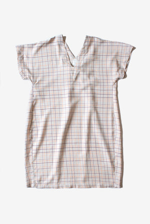 Carol Dress - Fog - Color Grid Print