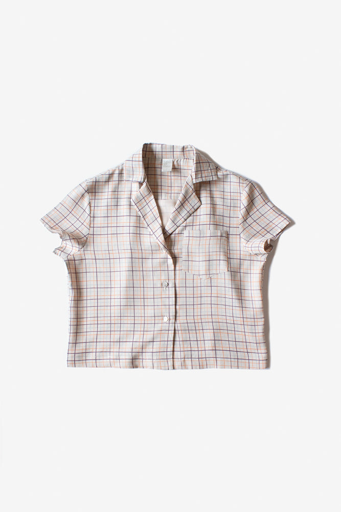 Rizo Blouse - Fog - Color Grid Print