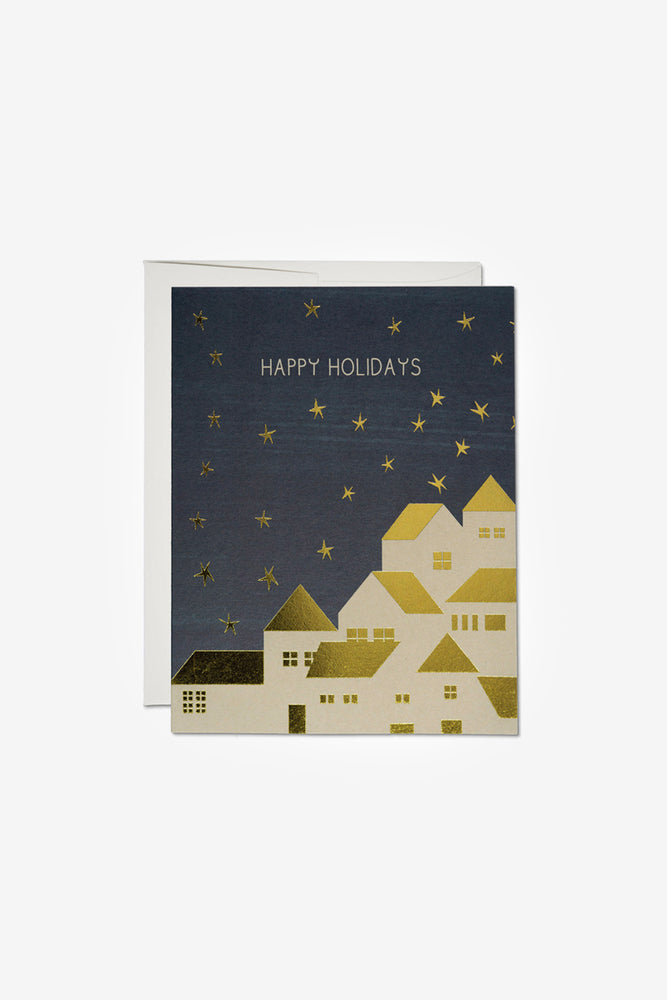 Gold Houses Card
