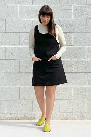 Caroline Jumper Dress  - Black