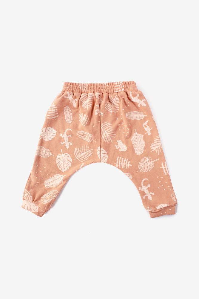 Jungle Organic Harem Pant - Almond with Natural