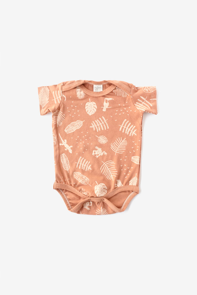 Jungle Organic Onesie - Almond with Natural