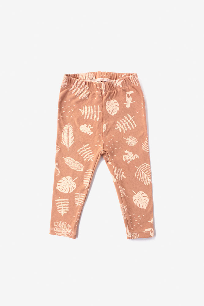 Jungle Organic Leggings - Almond with Natural