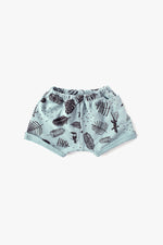 Jungle Organic Sweat Shorts - Aqua with Black