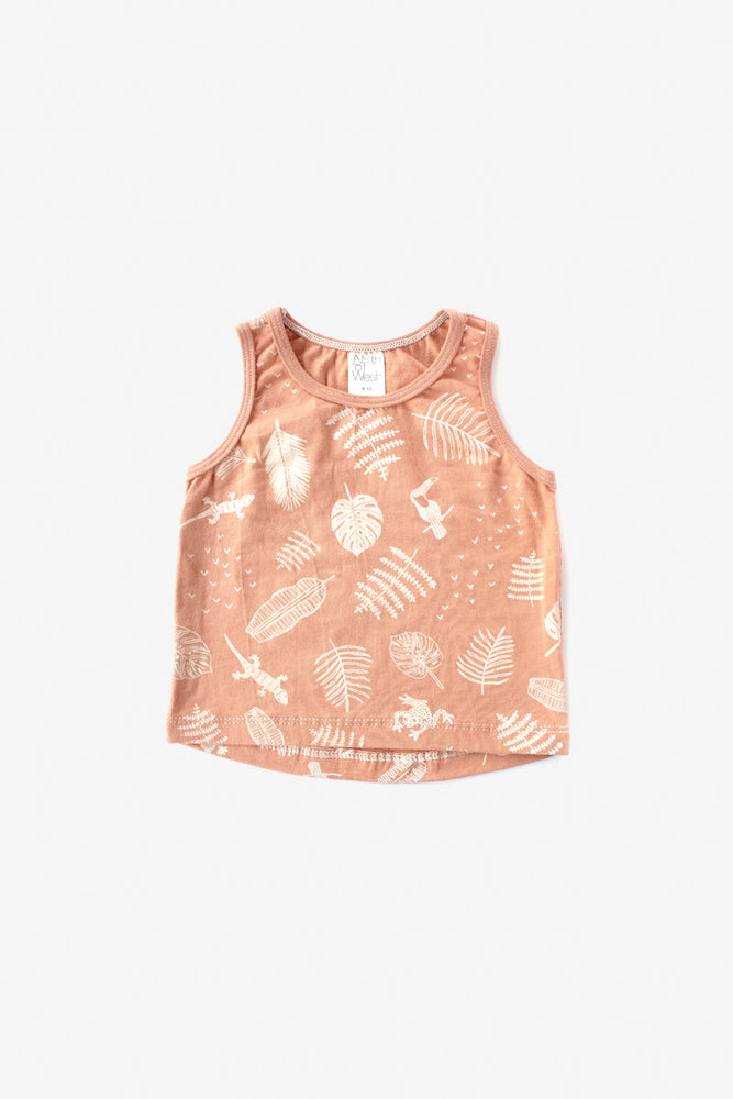 Jungle Organic Tank Top - Almond with Natural