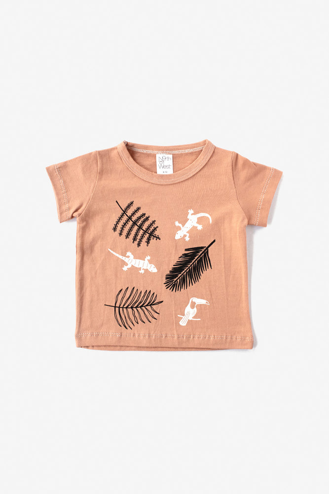 Jungle Organic Tee - Almond with Natural