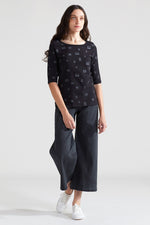 Window Organic Scoop Top - Black