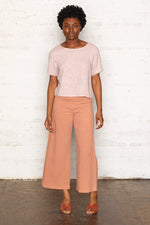 Labyrinth Cropped Blouse - Dusty Rose